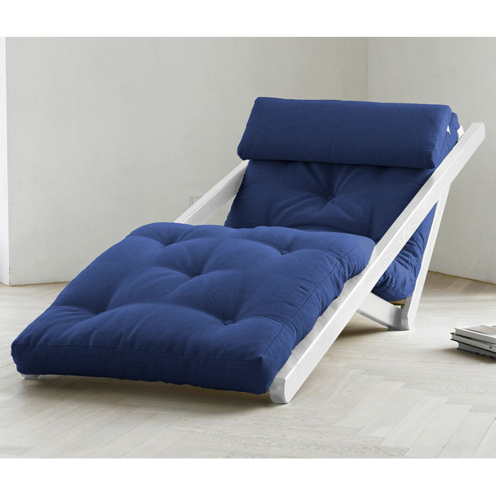 Figo Futon Chaise Lounge with White Frame