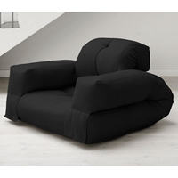 Hippo Convertible Chair with Arms in Black
