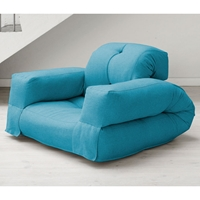 Hippo Sleeper Chair with Arms in Horizon Blue