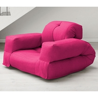 Hippo Sleeper Chair with Arms in Pink
