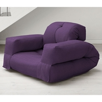 Hippo Sleeper Chair with Arms in Purple