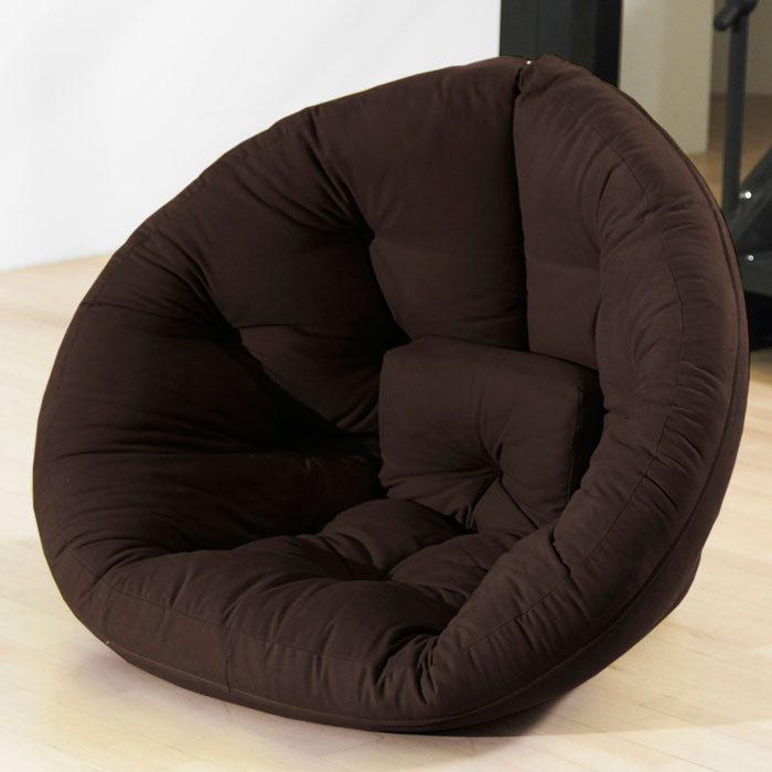 Nido Tufted Sleeper Lounge Chair in Chocolate