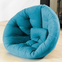 Nest Tufted Convertible Lounge Chair in Horizon Blue
