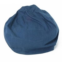 Large Beanbag in Denim