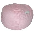 Large Beanbag in Pink Micro Suede