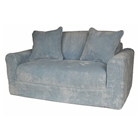 Kids Sofa Sleeper in Blue Chenille