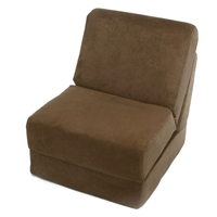 Teen Chair Sleeper in Brown Micro Suede