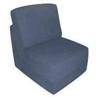 Teen Chair Sleeper in Navy Micro Suede