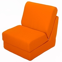 Teen Chair Sleeper in Orange Canvas