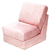 Teen Chair Sleeper in Pink Micro Suede
