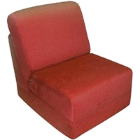 Teen Chair Sleeper in Red Micro Suede
