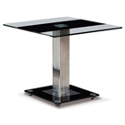 Wystan End Table with Black Accent
