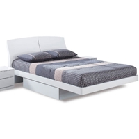 Aria Platform Storage Bed in White