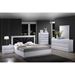 Bailey Bed - High Gloss White - GLO-BAILEY-M-BED