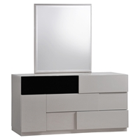Bianca Dresser in High Gloss Gray and Black