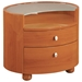 Emily Contemporary Oval Nightstand - GLO-EMILY-XX-NS