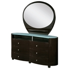 Emily Contemporary Oval Dresser with Mirror