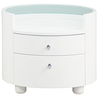 Emily Contemporary Oval Nightstand