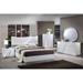 Eva Bed in High Gloss White - GLO-EVA-120-BED