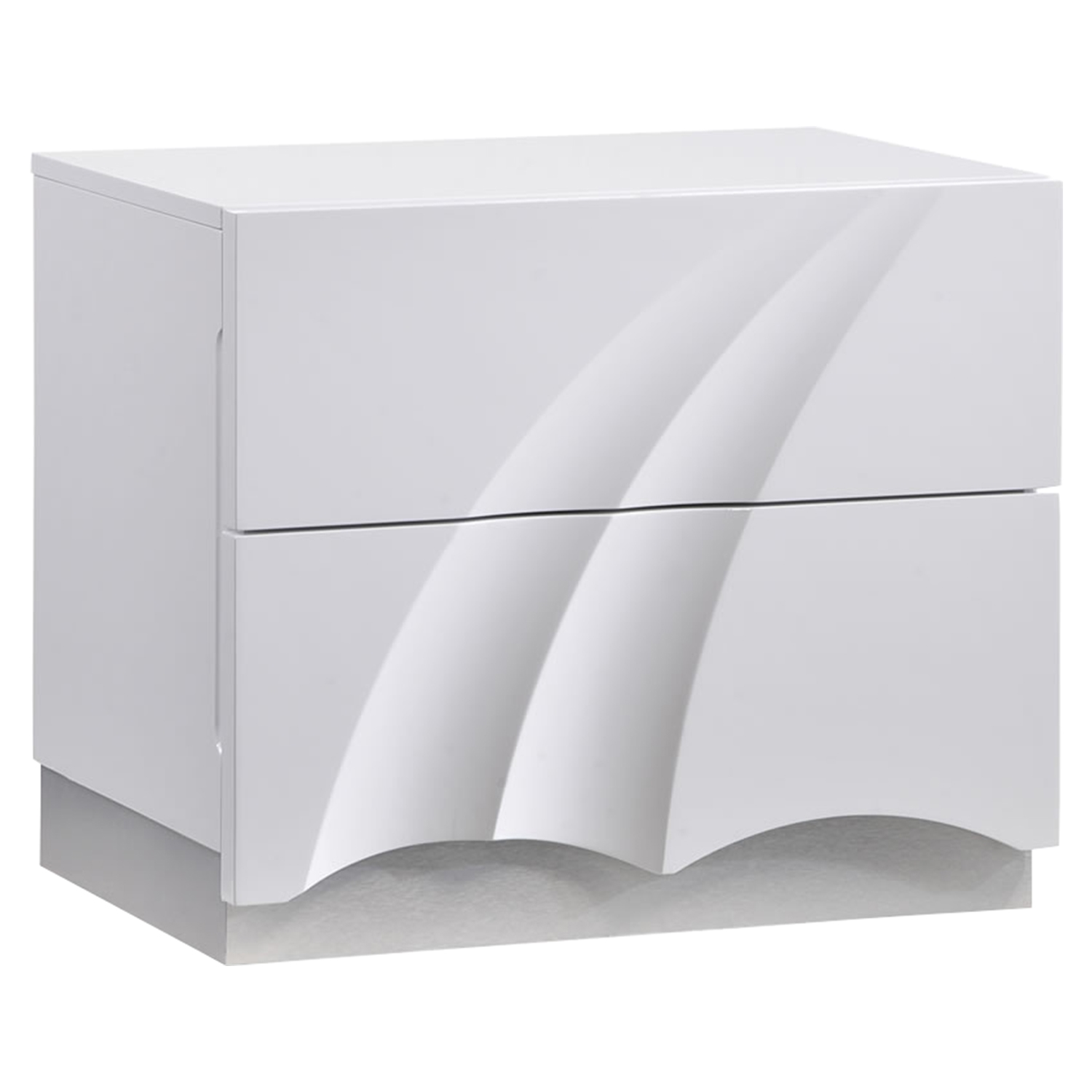 Eva Nightstand in High Gloss White
