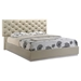 Grace Bed in High Gloss Zebra Cherry/Champagne - GLO-GRACE-125-BED