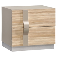 Grace Nightstand, High Gloss Zebra Cherry/Champagne