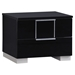 Hailey Nightstand, High Gloss Black - GLO-HAILEY-100-NS