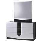 Hudson Dresser - High Gloss Zebra Gray and White