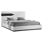 Hudson Bed, High Gloss Zebra Gray and White
