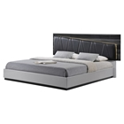Lexi Bed in Silver Line/Zebra Gray
