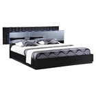 Manhattan Bed, High Gloss Black