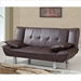 Breanna Sofa Bed in Brown - GLO-SB012-BR-M
