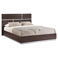 Tribeca Bed in High Gloss Brown Wood Grain