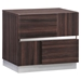 Tribeca Nightstand in High Gloss Brown Wood Grain - GLO-TRIBECA-110-NS