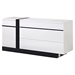 Trinity Dresser in White with Black Glossy Finish - GLO-TRINITY-D