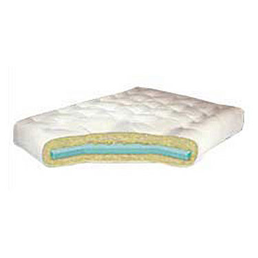 6%27%27 Cotton Futon Mattress with Single Foam Core - Queen