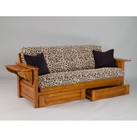 Burlington Cherry Oak Futon Frame
