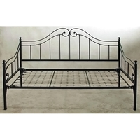 Old Charleston Wrought Iron Daybed - Ball Finials, Spindles