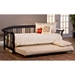 Dorchester Mission Style Daybed & Trundle - Black - HILL-1046DBLHTR