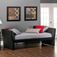 Natalie Upholstered Daybed - Black, Denim Look Arms