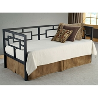 Chloe Contemporary Daybed in Black Nickel