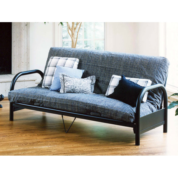 geneva black futon frame