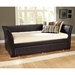 Malibu Brown Leather Daybed with Trundle - HILL-1519DBT