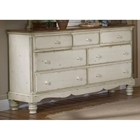 Wilshire 7-Drawer Wood Dresser