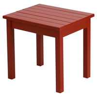 Plantation Porch Side Table - Chili Painted