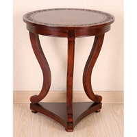 Victorian Wood End Table - Mahogany Stain Finish