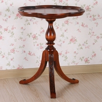 Windsor Wood End Table - Scalloped Top, Splay Legs