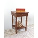 Windsor Square Top End Table - Mahogany Stain Finish - INTC-3859