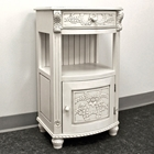 Antique White Telephone Stand - 1 Drawer
