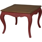 Ashbury Altesse End Table - Square, Antique Red